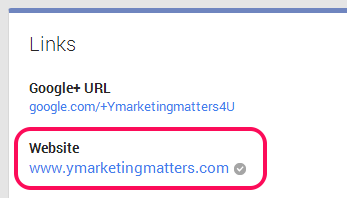link your google plus page with your website
