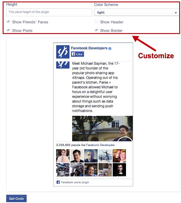 Facebook Like Box for Website