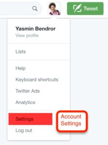 Account Settings Twitter