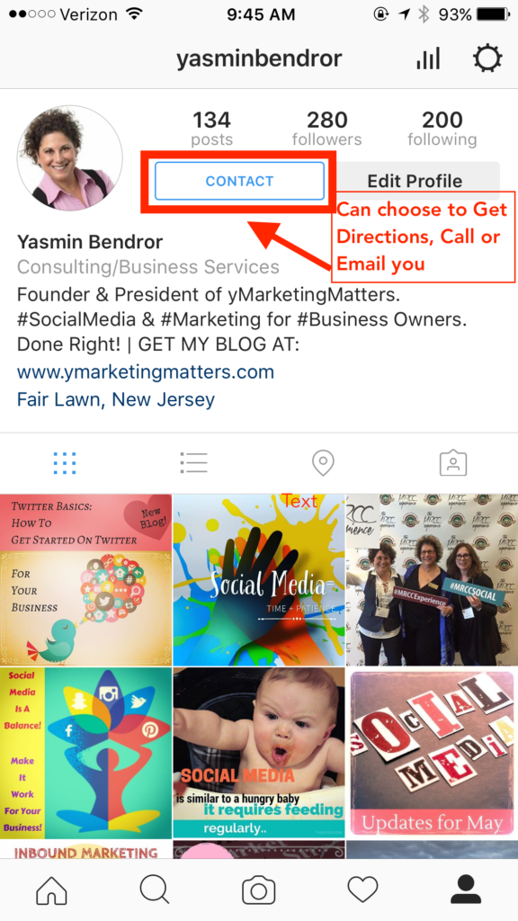 instagram, business profile, instagram business profile, instagram contact