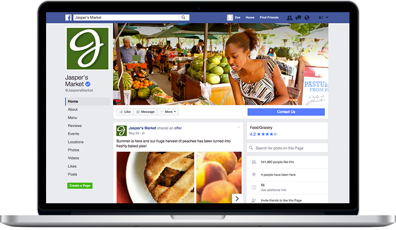 Facebook's new look and layout for Pages on desktop to make it easier for visitors to interact with your Page.