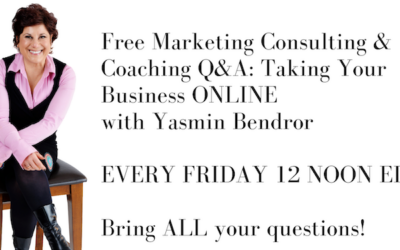 Free Marketing Consulting & Coaching Zoom Q&A Calls EVERY Friday with Yasmin